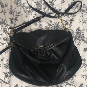 Juicy Couture Black Faux Leather Crossbody Bag